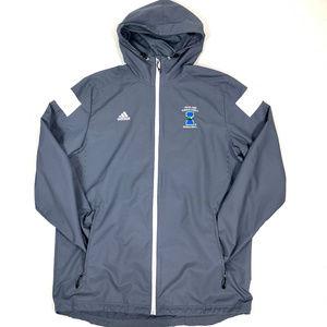 Adidas TX A&M Zip-Up Hooded Windbreaker/Raincoat